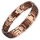 Rainso Mens Copper Magnetic Therapy Bracelet for Arthritis Pain Relief