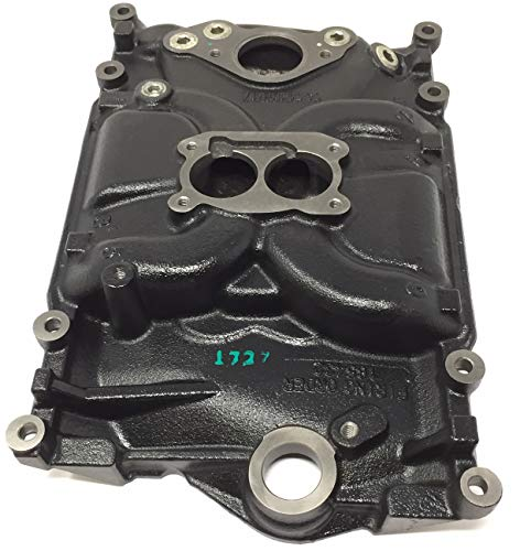 New 4.3L, 262 CID 2 barrel Vortec Marine Intake Manifold Assembly. Replaces Mercruiser 824324T02, Volvo Penta 3855805