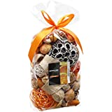 Qingbei Rina Yellow Orange Scent Potpourri Dried Flowers Perfume Sachet Decorative Fragrance Bag and Gift Suitable for Filling a 60 Fluid-Oz Bowl