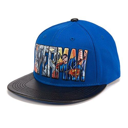 Superman Hoodie For Adults (DC Comics Superman 3D Embroidery Adjustable Baseball Cap)