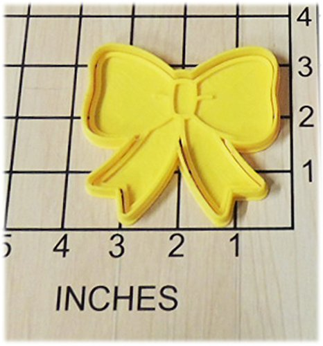 - Ribbon Bow Shaped Cookie Cutter and Stamp #1215