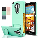 LG G Stylo Case,LG G4 Stylus Case With HD Screen Protector,(Not Fit LG G4) AnoKe [Credit Card Slots Holder][Not Wallet] Plastic TPU Hybrid Shockproof Heavy Duty Case For LS770 KC1 Mint