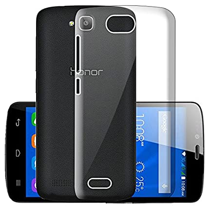 new style d86bd 22bf7 ECellStreet Silicone Soft Back Cover for Huawei Honor Hol-u19 (Transparent)