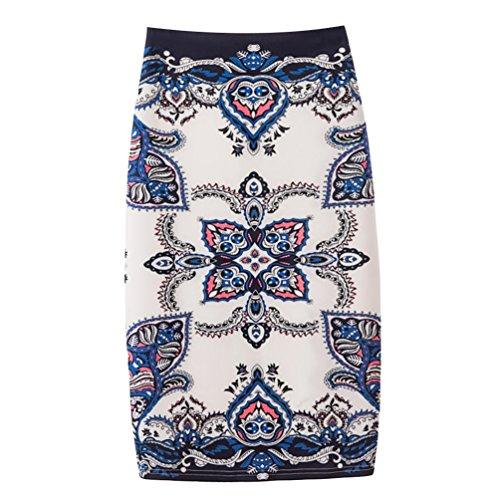 Yuanu Femme Doux Confortable Jupe Courte Serre Mode Impression Numrique Zipper Jupe Moulante Impression Style 19