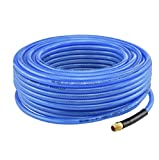 "1/4"" inch 100' ft Air Hose Ironflex Braided Polyprothane Compressor 200 PSI"
