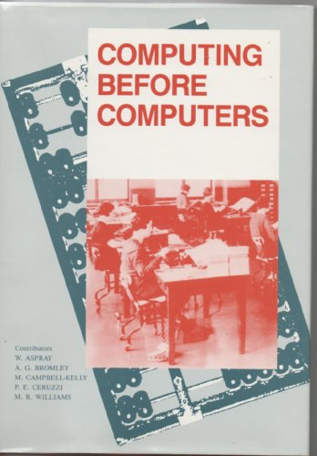 Books : Computing Before Computers