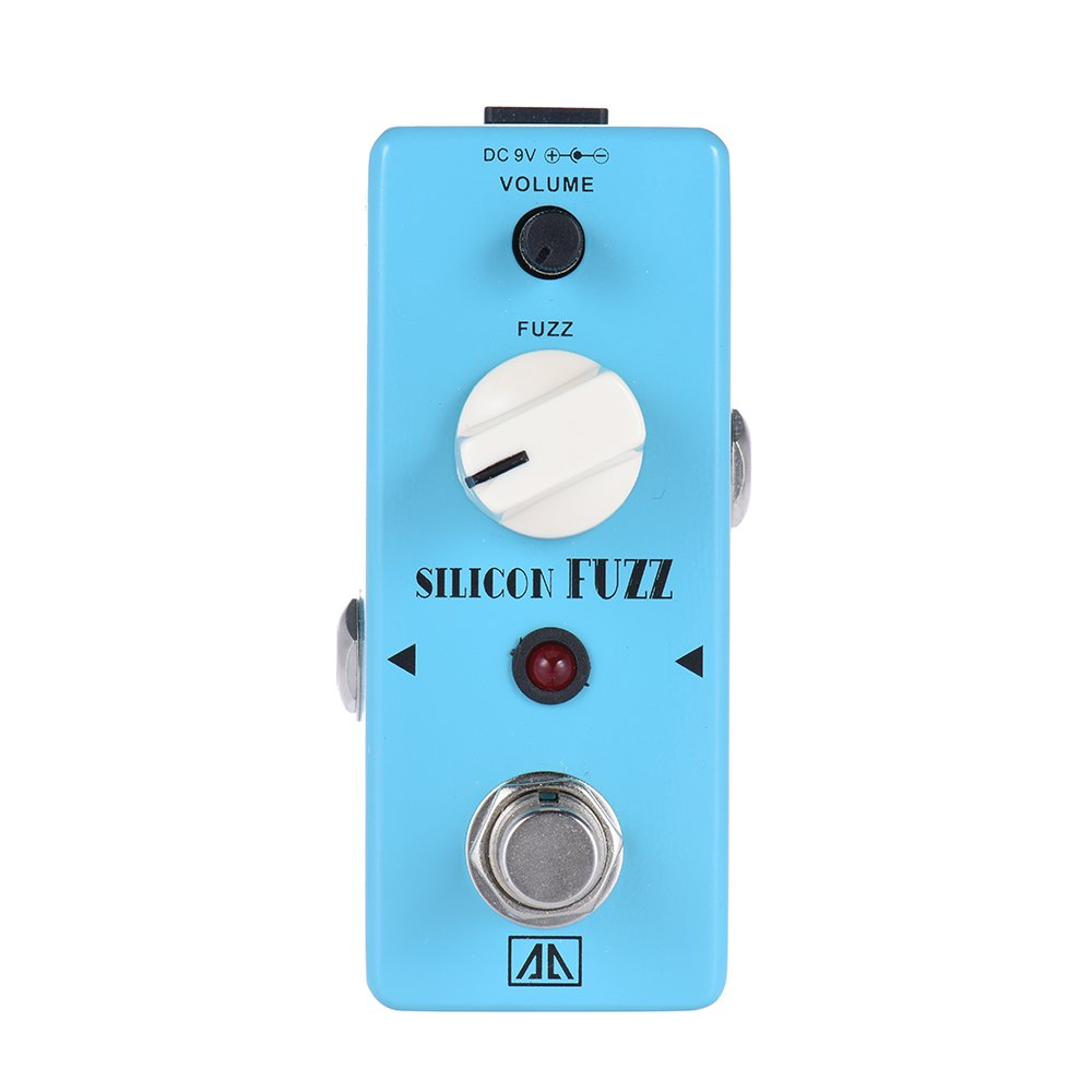 ammoon AROMA ASF-5 Classic Silicon Transistor Fuzz Guitar Effect Pedal Aluminum Alloy Body True Bypass
