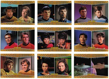 Star Trek TOS Heroes & Villains Mirror Mirror Complete 9 Card Chase Set