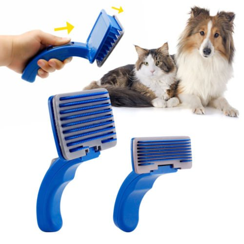 Pet Dog Cat Grooming Self Cleaning Slicker Brush Comb Shedding Tool Hair - Sunglasses Simulator