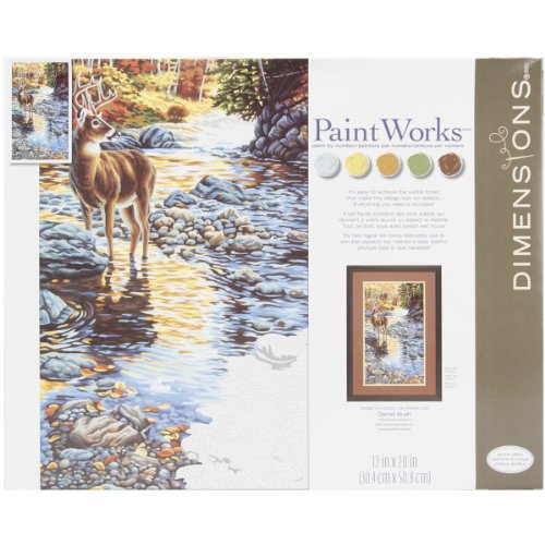(Dimensions Paint by Number Craft Kit, Shallow)