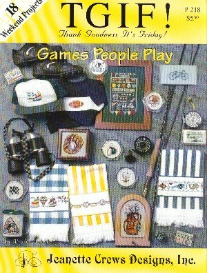 Games People Play (Jeanette Crews Designs #218 Cross Stitch Patterns)