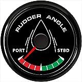 Kadir Koc Pack of 1 52mm Marine Rudder Angle Gauges 0-190ohm Waterproof Rudder Angle Meters Boat Use Instrument with 8 Kinds Backlight