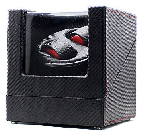 Mount Tibet High-end Ultra Quiet Carbon Fiber Watch Winder for 2 Automatic Watches