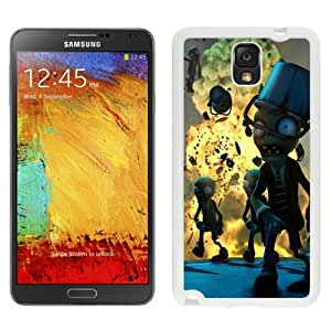 Hot Sale And Popular Samsung Galaxy Note 3 Case Designed With Plants vs. Zombies 2 Zombies White Samsung Note 3 Phone Case