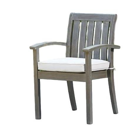 Miraculous Amazon Com Garden Lounge Chair With Arms Cushion Wood Cjindustries Chair Design For Home Cjindustriesco