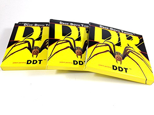 DR Guitar Strings 3 Pack Electric DDT Drop Down Tuning 13-65 Mega Heavy