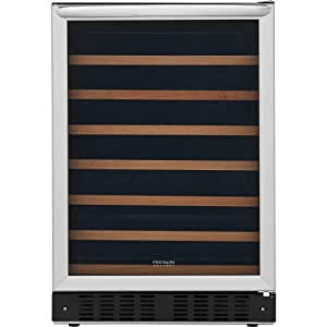 Frigidaire FGWC5233TS Gallery Series 26 Inch Built-In and Freestanding Single Zone Wine Cooler in Stainless Steel