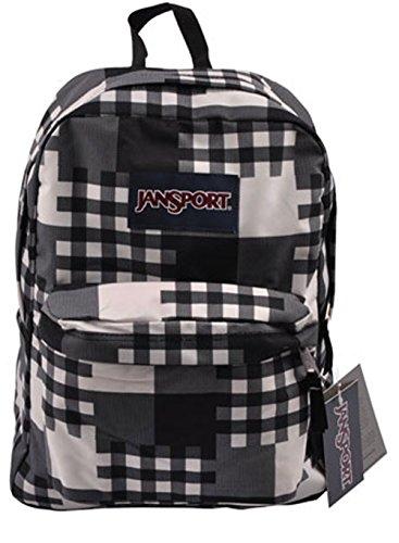 JanSport Superbreak Backpack Black Cross Block One Size ()