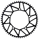 VGEBY1 Bike Chain Wheel, 50/52/54/56/58T 130BCD Bike Single Speed Chainring for Most Bicycle Road Bike Mountain Bike(56T) (Color: 56T)