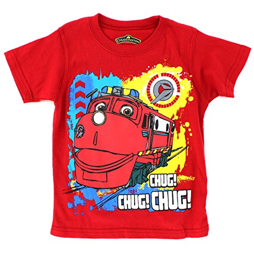 [Chuggington Boys Short Sleeve Tee (4T, Red Chug Chug Chug)] (Chuggington Party Supplies)