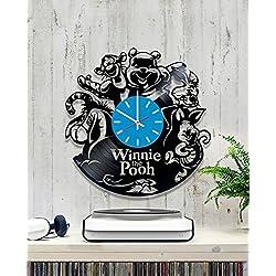 choma Winnie The Pooh Vinyl Clock, Vinyl Wall Clock, Vinyl Record Clock Pooh Bear Winnie-The-Pooh Walt Disney Classics a.a. Milne Teddy Bear Wall Art Home Decor Kids Gift