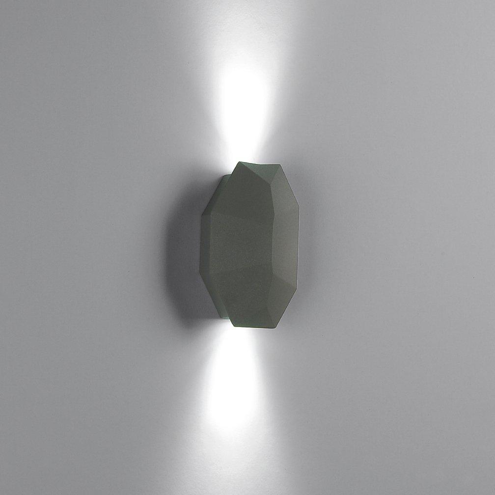 goLEDgo 1Pack LED Deco Wall Light, 2X1W, Outdoor Waterproof IP65, AC90-260V, Matt Grey Black Finish as Standard.For Wall Decor of Building, Villa, Park, Garden, Hotel, KTV Light; No.1321 (1, white)