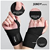 JunoSports Adjustable Athletic Wrist Brace Support for Carpal Tunnel, Tendonitis, Weightlifting