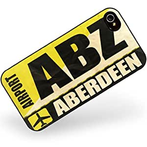 Rubber Case for iphone 4 4s Airportcode ABZ Aberdeen - Neonblond