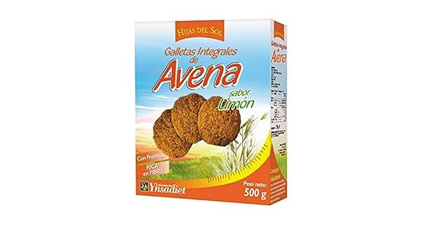 Hijas Del Sol Galletas Integrales de Avena, Sabor limón - 500 gr: Amazon.es: Alimentación y bebidas