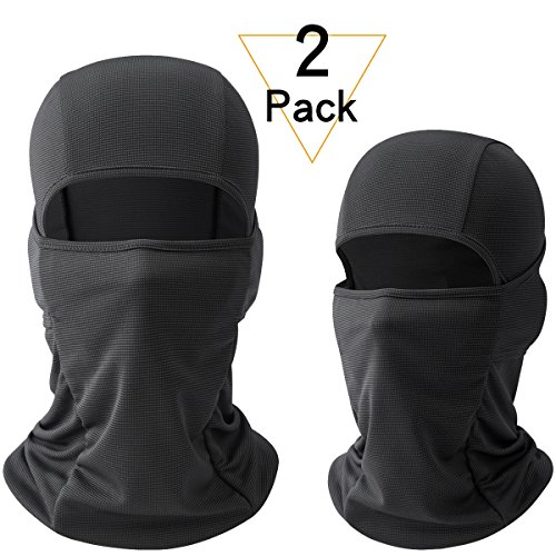 JIUSY 2 Pack - Breathable Windproof Balaclava Face Mask UV Protection Helmet Liner for Motorcycle Cycling Hunting Hiking Fishing Walker Ski Snowboard Summer Winter Outdoor Sports (Cold Weather Helmet Liner)