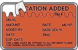 Medvalue ULHH507 IV Medication Added Label, 2-1/2'' x 1-1/2'' - 400 Labels Per Roll