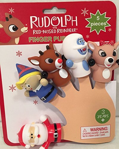 Rudolph The Red-Nosed Reindeer Finger Puppets