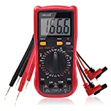 Multimeter, Exwell Digital LCD Auto Ranging Multimeter with Two Sets Multimeter Test Leads, 7.3x3.5x1.9 Voltage Tester/MeterBlack Protective case included