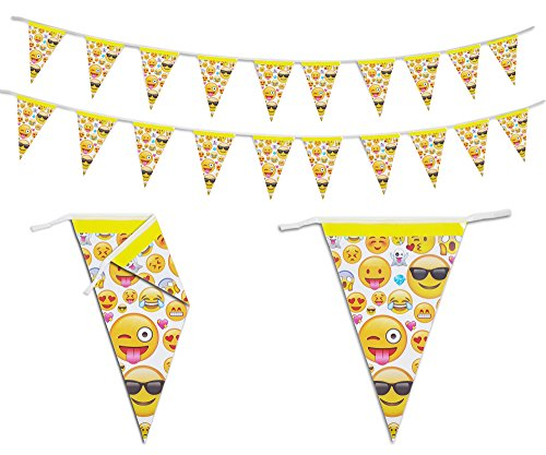 Emoji Party Banners Decorations 16 ft (Diy Halloween Themed Birthday Party Invitations)