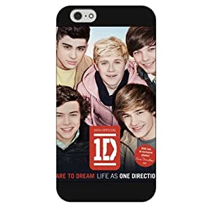 "UniqueBox Customized Black Frosted One Direction(1D) iPhone 6 5.5 Case, Only fit iPhone 6+ (5.5"")"