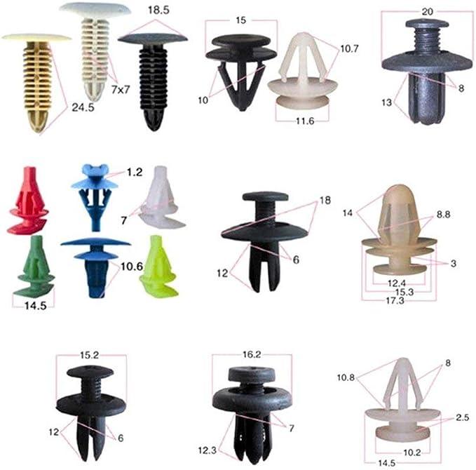 50 Pezzi Colore Misto DGdolph Clip Universale per modanature per modanature per Auto Kit di Fissaggio per Rivetti in plastica