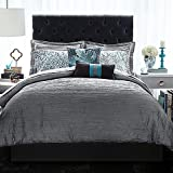 Christian Siriano Relaxed Crinkle Comforter Set (Full/Queen, Gray)