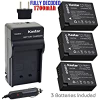 Kastar Battery (3-Pack) and Charger Kit for Panasonic DMW-BLC12, DMW-BLC12E, DMW-BLC12PP and DE-A79 work with Panasonic Lumix DMC-FZ200, DMC-FZ1000, DMC-G5, DMC-G6, DMC-GH2 Cameras