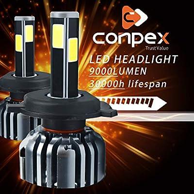 Pair H8 H9 H11 30000LM 300W 2-Sides LED Headlight Kit LOW Beam Bulbs 6000K White