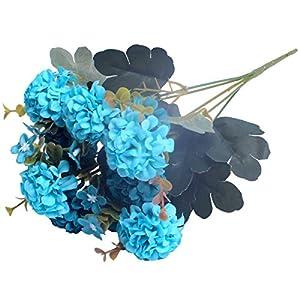 1 Bunch European Artificial Flower Fake 10 Heads Hydrangea Bouquet Wedding Arrangement Christmas Home Decoration 62