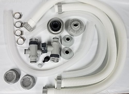 Fitting Pump - Intex Pool Accessory kit with Pump Hoses, Plunger valves, Jet Nozzle and Small Strainer Set