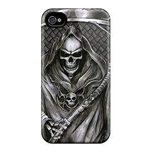 Iphonecase88 Apple Iphone 4/4s Perfect Hard Cell-phone Case Allow Personal Design Lifelike Grim Reaper Pictures [PkW2740aMSu]