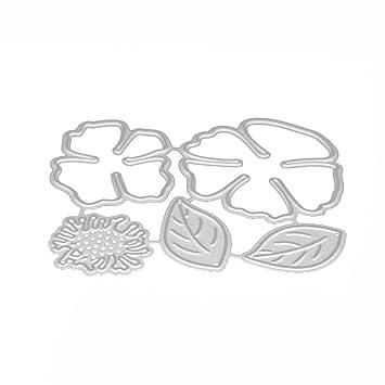 DIPOLA Acero del Metal en Relieve Troqueles de Corte Kit Plantilla para DIY Hecho a Mano Papel Scrapbooking Tarjeta Álbum,Sobre y Carta del Arte: Amazon.es: ...