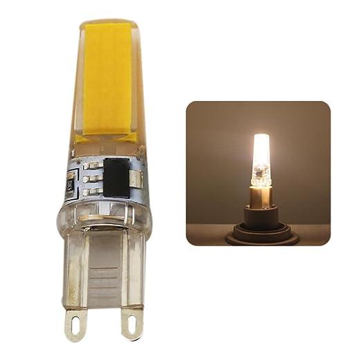 1 piezas bombillas LED G9 5W, COB bombillas, Equivalentes a Lámparas Halógenas de 45W