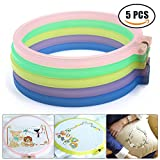 4 plastic embroidery hoop - 5 Pieces 6 inch Assorted Crystal Plastic Embroidery Hoops Bulk Cross Stitch Hoop Ring