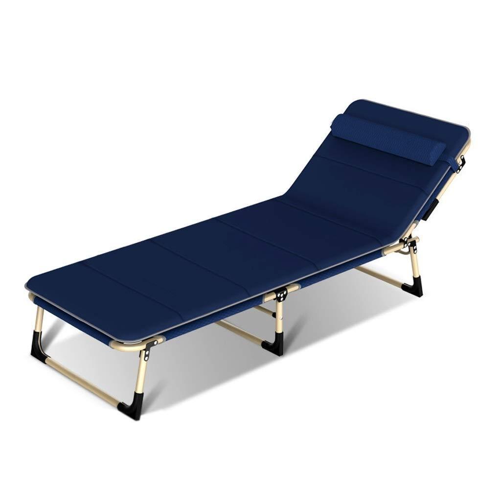AZHom Klappbett Recliner Single Office Nap Bett Einfache Eskorte Bett im Freien Marching Recliner Bett