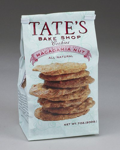 Tate's Bake Shop Cookies - White Chocolate Chip Macadamia Nut - All Natural - Each Bag is 7 Ounces (Pack of 12)