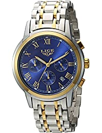 Men's Quartz Stainless Steel Watch, Color:Blue (Model: DS13)