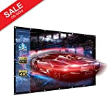 84-Inch outdoor Projector Screen PVC Fabric,16:9 Portable Projector Screen - Suitable for HDTV/Sports/Movies/Presentations (84inch)