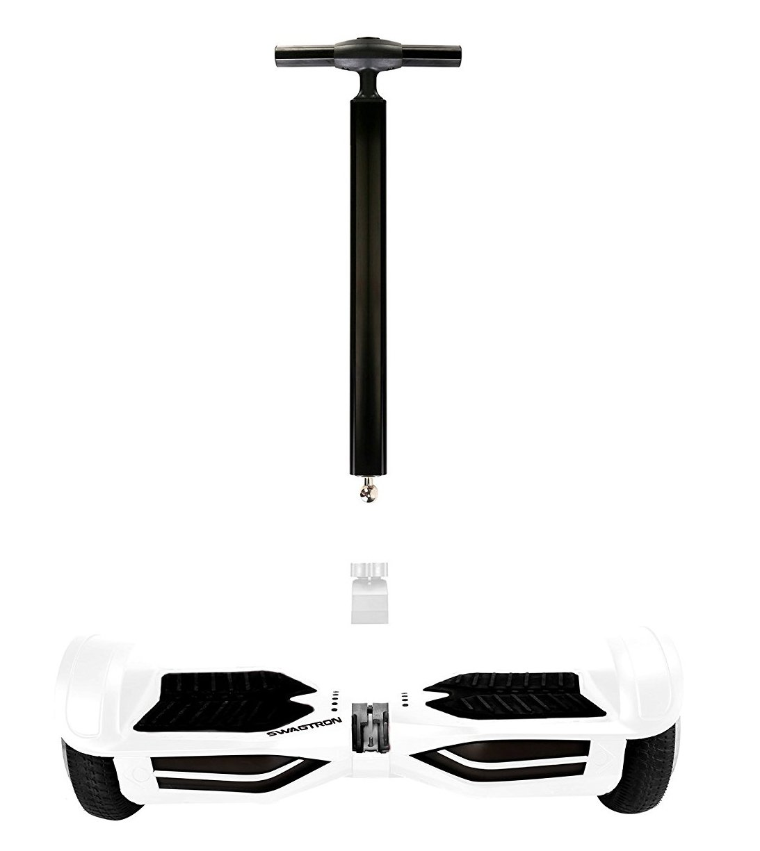 Swagtron Ultimate Balance T  Hoverboard Handlebar - Compatible with T3 and T380 (White) by Swagtron